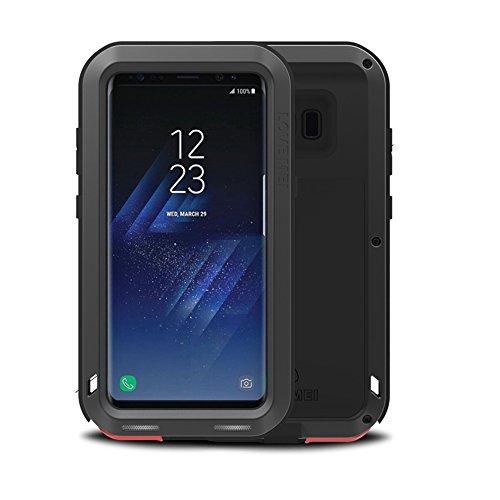 Eastcoo Samsung Galaxy S8 Hülle Case, wasserdicht stoßfest Alloy Aluminum Metal Bumper Soft silikon Military Schwer Metall Militär Starkes stoßfestes hartes Hülle Tasche Cover für Samsung Galaxy S8