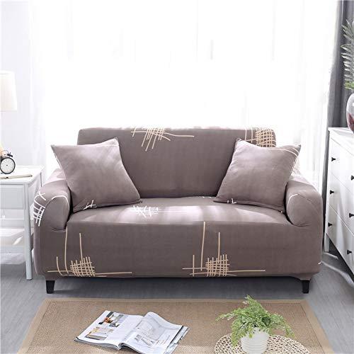 TT&CC Cubre sofá elástica,Funda de Poliester Moderno Anti-Que Patina combinación combinación sofá Protector de la Tela para 1 2 3 cojín de sofá-M sofás de Dos plazas 145~185cm(57~73inch)