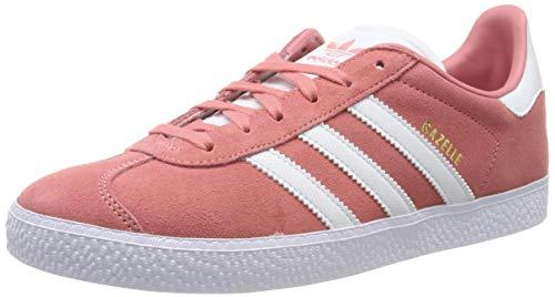 adidas Unisex-Kinder Gazelle J Gymnastikschuhe, Pink Tactile Rose F17/Ftwr FTWR White, 37 1/3 EU
