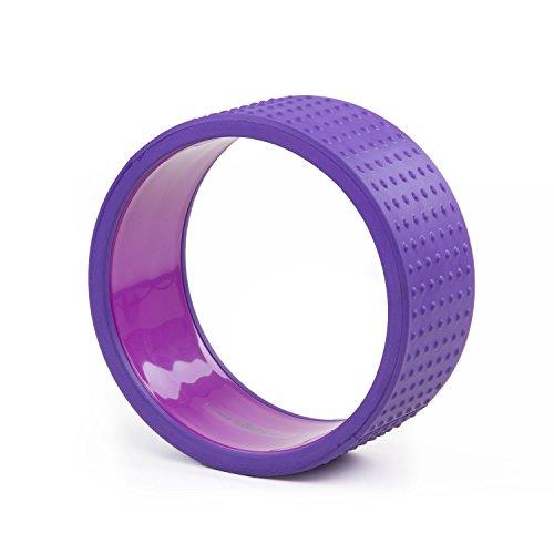 Yoga Wheel SAMSARA Premium, lila, 32 x 15 cm, Yoga Rad, Yoga-Zubehör, Yoga Ring, vielseitig einsetzbares Yoga-Hilfsmittel
