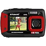 Polaroid iE090 Dual-Screen Waterproof Digital Camera (18 MegaPixel, 2.7 Inch Screen, 4x Digital Zoom) (Red)