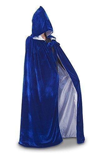 Umhang (Blauer Samt/Silber Seide) (Mystic Kostüm)
