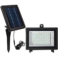 MEIKEE 60 LED Solar Licht Sicherheit Beleuchtung Solar Flutlicht IP65 6000 K auto-induction außen für Terrassen, Garten, Balkon Tageslichtweiß