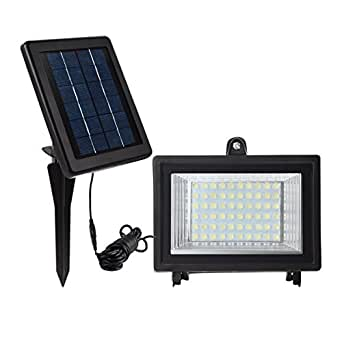 meikee 60 led solar licht sicherheit beleuchtung solar flutlicht ip65 6000 k auto induction. Black Bedroom Furniture Sets. Home Design Ideas