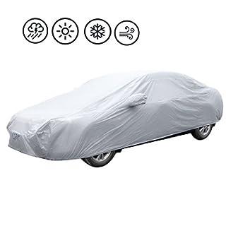 Abdeckplane Auto PKW Autoabdeckung Faltgarage Auto Hülle Schutzhülle Autoschutzdecke Autohaube Tragetasche 189.76*68.69*47.24 Inches (#3 482 x 177 x 120 cm)