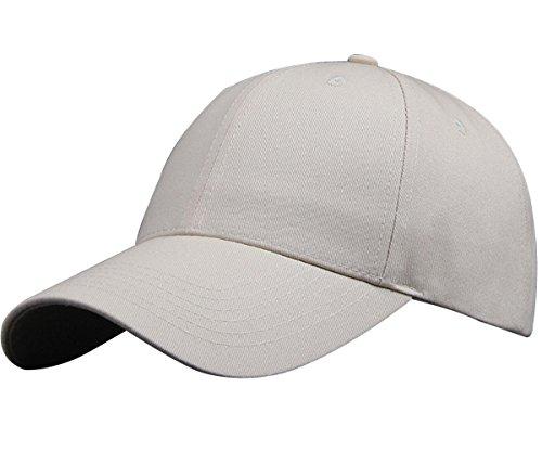 IKuaFly Baseball Snapback Kappe 100 Baumwolle Verstellbar Trucker Cap 6 Bedienfeld Atmungsaktiv Hip Pop Sport Golfschläger - herren damen (beige) (Baumwolle Cap 100%)