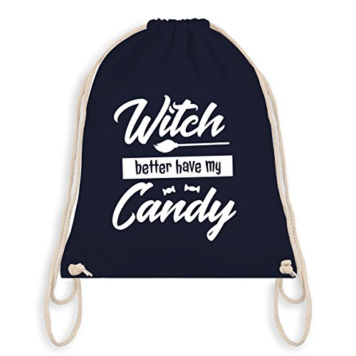Halloween - Witch better have my candy - Turnbeutel I Gym Bag Navy Blau