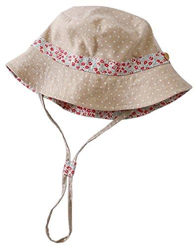 EOZY Chapeau Solaire Bébé Fille Fleur Anti-UV Lin Respirant Hat Casual Size 5