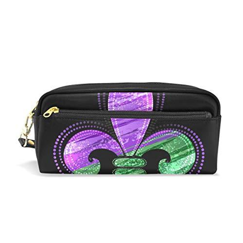 roßer Kapazität, Geldbörse Mardi Gras Fleur De Lis wasserdichte Make-up-Tasche für Studenten oder Frauen ()