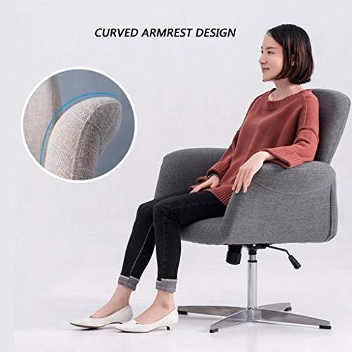 HQQ Sofa Computer Stuhl, Verstellbarer Drehstuhl Heim Bürostuhl Rückenlehne Heben Armlehne Blau...
