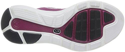 Nike, Wmns Nike Lunarglide+ 5, Scarpe sportive, Donna Raspberry Red/SMMT WHT-PNK FL