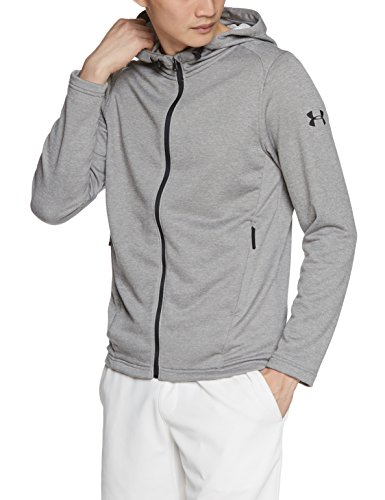 Under Armour – Maglietta Tech Terry FZ hoodie Warm-Up top, Uomo, Tech Terry FZ Hoodie, Steel Grigio (Steel)