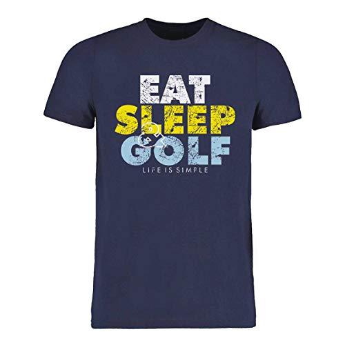 HELLION® Maglietta da Golf Eat Sleep Golf I Taglia S - 3XL I complemento Perfetto per la Polo da Golf (XXL)