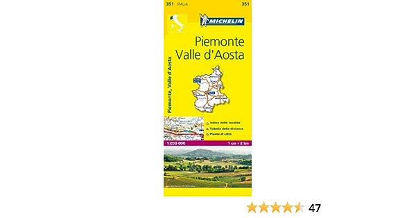 Cartina Michelin Piemonte.Amazon It Piemonte E Valle D Aosta 1 200 000 Map Michelin Travel Publications Libri
