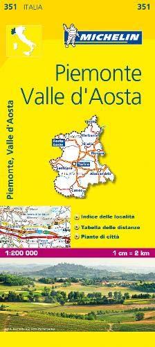 Mapa Local Piemonte, Valle D'Aosta Mapas Local Michelin