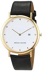 Danish design Unisex-reloj IQ10Q881 analógico de cuarzo cuero IQ10Q881 de Danish Design
