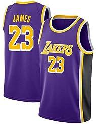 SansFin Lebron James, Maillot De Basket-Ball, Lakers, Édition Classique, Nouveau Tissu Brodé