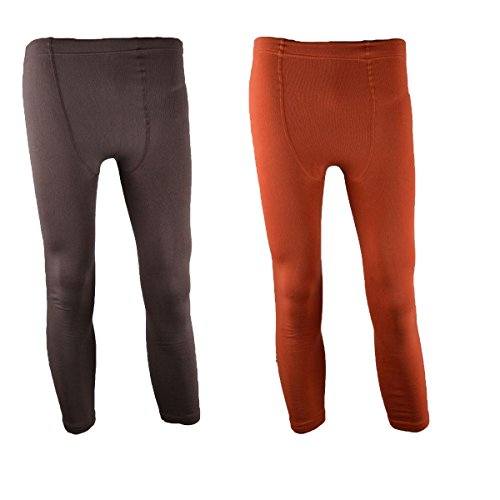 Damen Thermo-Leggings ,2er Pack,schwarz,superweich, dick und warm Coral/Braun