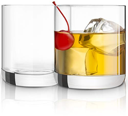 joyjolt Nova non-leaded Kristall Old Fashioned Whisky Gläser, hervorragend für Cocktail Bourbon Rocks Trinkglas 10Unze Bar Gläser Set von 2 1 Double Old Fashioned