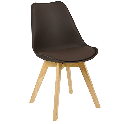 WOLTU BH29br-1 1 x Esszimmerstuhl 1 Stück Esszimmerstuhl Design Stuhl Küchenstuhl Holz Neu Design...