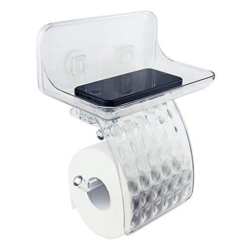 LIAOLEI10 Badezimmer Regal Toilettenpapierhalter mit Telefonablage, Toilettenpapierhalter mit Ablage Toilettenpapierrolle Bad Papierrollenhalter Ablage für Wet Wipe Home Commercial Use -