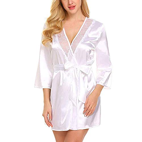T-shao Lencería Sexy Mujer Batas Kimono camisón