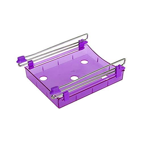 Prima05Sally Multifunktionale Kühlschrank ausziehbare Schublade Home Küche Lebensmittel Frische Crisper Rack Lagerhalter Gefrierschrank Regal - Küche Pull-out-regale