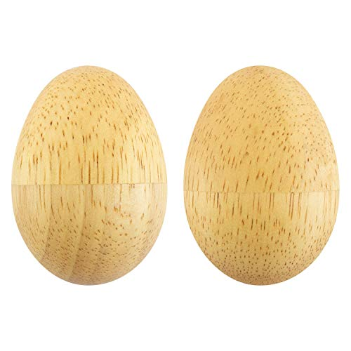 Tiger Wooden Natural Egg Shakers (Pair)