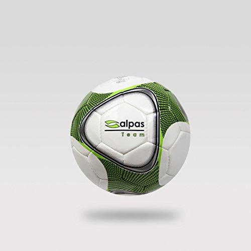 10 Fussbälle/Fußbälle/Fussball alpas Team Gr. 3, 4 und 5 (weiß/grün/schw, Größe 5)