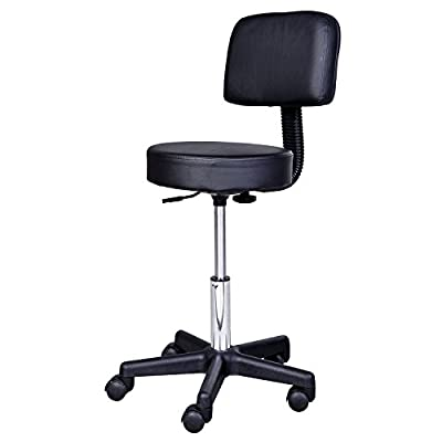 Homcom Massage Beauty Salon Spa Chair Stool Swivel Gas Lift Manicure Tattoo Stools Chair Black - cheap UK light store.