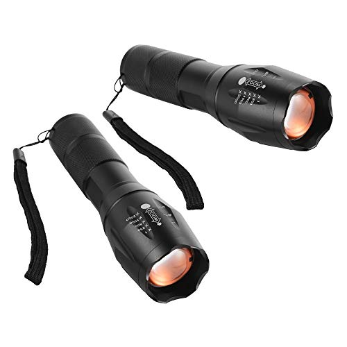 Bertong 2 Piezas T6 LED Linterna antorcha Zoom Ultra