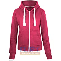 Womens Plus Size Hoodie Hooded Zipper Top SweatShirt Jacket Sweater 16 18 20 22 AMERICAN HOODY FLIRTYWARDROBE