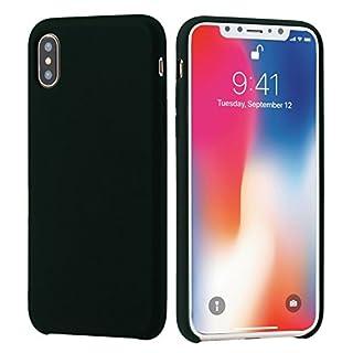 iPhone X Fall, amicool Liquid Silikon Ultra Thin Case einfach Stylisch kratzfest Anti-Fingerprint Schutzhülle mit leicht Weiches Mikrofaser Tuch matt Finish für Apple iPhone X/105,8