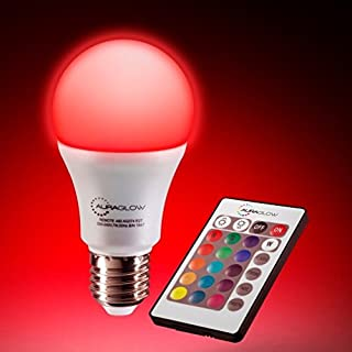 AURAGLOW 7w Remote Control Colour Changing LED Light Bulb E27, 60w Warm White Dimmable Version - 3rd Generation