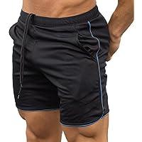 cheyuan Pantalones Cortos Gym Fitness para Entrenamiento Deportivo para Hombres