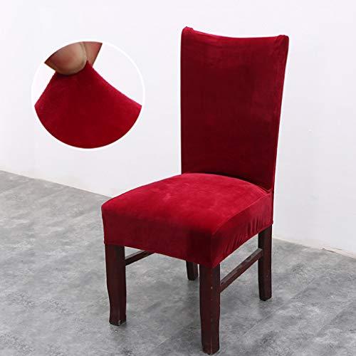 MAIAMY Dicke Plüsch Esszimmer Stuhlhussen Büro einfarbig waschbar Spandex Sitzbezüge weichen Stuhl Protector