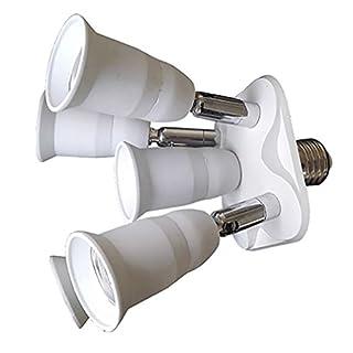alkyoneus 5in 1VERSTELLBAR E27Lampe Lampenfassung Adapter Splitter Verteiler Konverter für Foto Studio