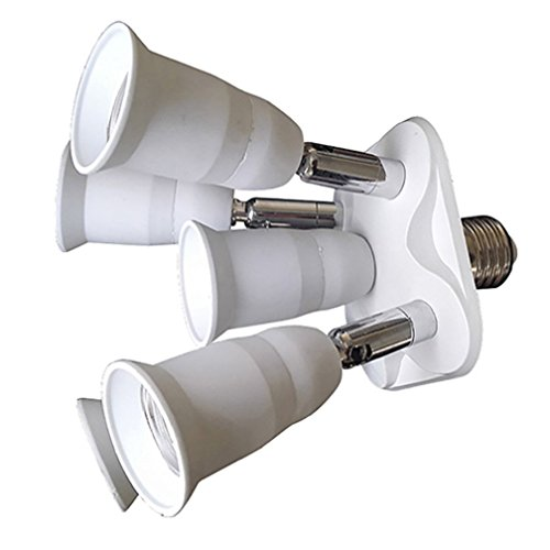 alkyoneus 5in 1VERSTELLBAR E27Lampe Lampenfassung Adapter Splitter Verteiler Konverter für Foto Studio (Wein-flaschen-licht-buchse)