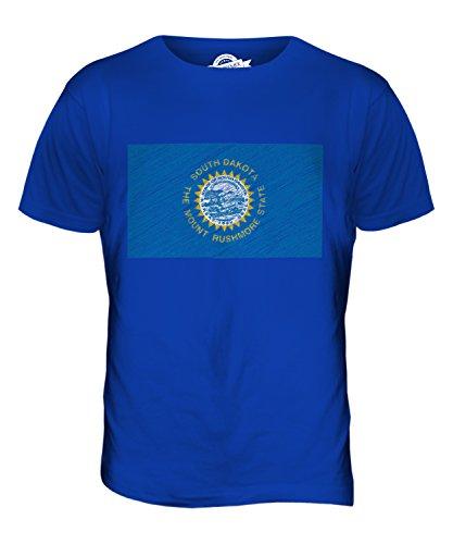 CandyMix Bundesstaat South Dakota Kritzelte Flagge Herren T Shirt Königsblau