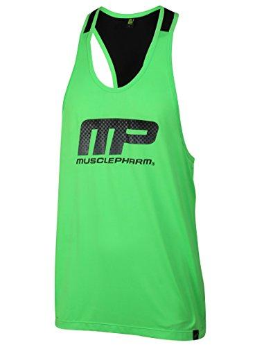 canotta gilet Musclepharm da uomo mpm37-mpvst519stampato  con mesh trim-large-black - 41CDoBt9L2L