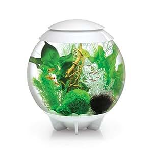 biOrb Halo Aquarium 30L avec Moonlight LED pour Aquariophilie Blanc