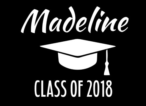 Madeline Class Of 2018: Graduation Cap Guest Book For Party, Personalized Gift. Graduate Advice or Autograph Book Unlined. (Tassel Zone) Madeline Cap