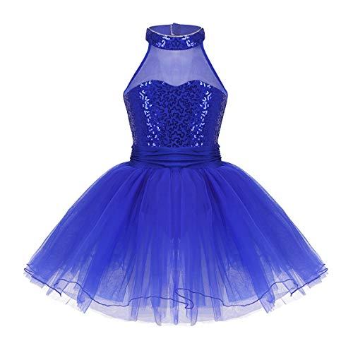 f824703b88b Acheter Alvivi Robe Danse Enfant Fille Justaucorps Gymnastique Ballet Danse  sans Manche à Paillettes Robe de Soirée Cérémonie Costume de Danse  Performance ...
