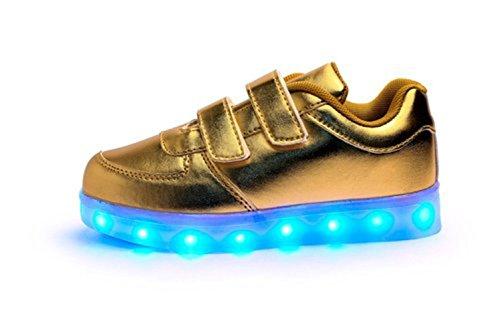 Golden junglest® Led Farbe Paare Usb Kinderschuhe kleines Leucht Leuchtend Und Handtuch Lauf Freizeitschuhe present Sport Herbst 7 Schuhe Winter Aufladen wHXxq