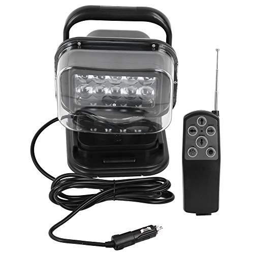 KIMISS Universale Lampada da Ricerca 50W 10 LED con Telecomando e Base Magnetica Lampada Spot da 360 Gradi per Camion Carrelli elevatori SUV Engineering Vehicles Auto Motociclett