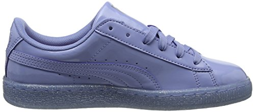 Puma Unisex-Kinder Basket Patent Iced Glitter Jr Low-Top Blau (lavendar lustre-lavendar lustre 02)