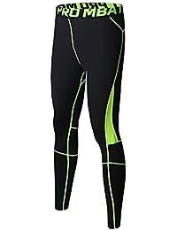 FELiCON Ginnastica da Uomo Sportivo di Pantaloni da Uomo a Compressione Indossare Abiti da Allenamento ad Asciugatura Rapida, Traspirante, Confortevole Leggings Base Elite Fitness Pantaloni Termici