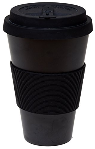 AIREE FAIREE Taza de Café Reutilizable para Llevar - Taza Ecológica de Fibra de Bambú y Sillico Natural 450ml