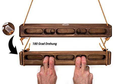 Captain Fingerfood Kletterboard Trainingsboard Hangboard 180° (buletten braun, 44)