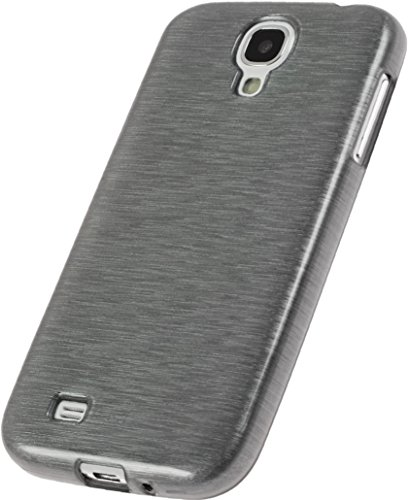 Coque en Silicone pour Samsung Galaxy S4 - brushed argent - Cover PhoneNatic Cubierta